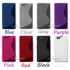 Gel TPU Silicone Cover Case Skin for SONY Xperia Z1 mini,D5503 +Screen Protector