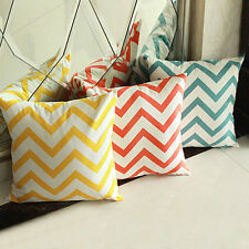 New Sofa Home Bed Decorative Throw Pillow Case Cushion Cover Square Waved Stripe