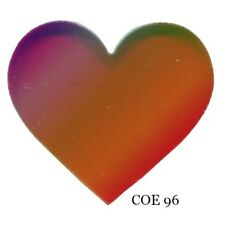 SPECTRUM COE 96 HEART Fusible Glass Red Translucent Iridized Fusing Supplies