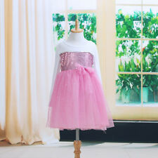 Elegant Baby Kids Girls Party Sequin Layered Tulle Full Fancy Dress Costume 1~6Y