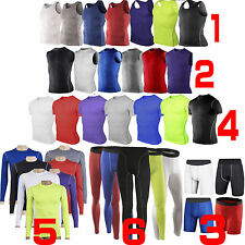 Various Mens Sports Compression Base Layers Tight Skin T-Shirts Vest Pant Shorts