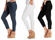 Lee Perfect Fit Just Below the Waist Skinny Ankle Crop Stretch Jeans Pants 4-16