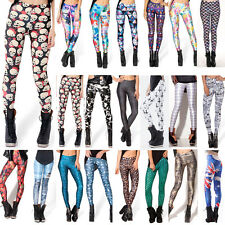 Sexy Women 3D Graphic Digital Printing Stretch Skinny Leggings Sheathy Trousers