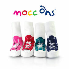 """""""Mocc Ons"""" the Clever Little Slipper Socks Keeps Baby's Toes Warm: 24-36m/2-3yrs"""