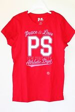 NEW Aeropostale P.S. Girls' T-Shirt Red Peace Love Valentine's Day Size 4 and 12