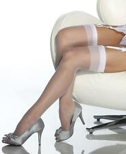 White Sheer Thigh High Stockings - Coquette 1706