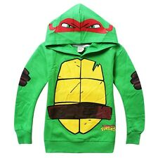 Teenage Mutant Ninja Turtles Kids Boys Tops Hoodie Overcoat Clothes Outfits 3-8Y