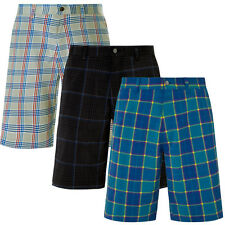 50% OFF RRP Callaway Mens Optic Link Performance Checked Plaid Funky Golf Shorts