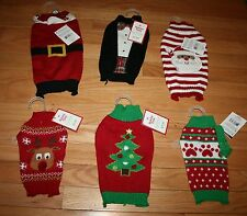 NWT Holiday Time Pet Dog Christmas Sweater ~Various Styles & Sizes~