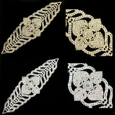 1x Sparkling Clear Glass Rhinestone Applique Costume Decor for Valentine's Day