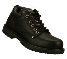 Skechers COTTONWOOD SLIP RESISTANT Men's Shoes BLACK 77017BLK