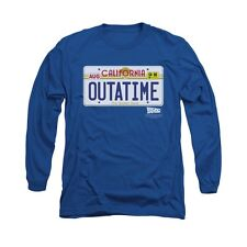 Back To The Future Movie Outatime Plate Licensed Adult Long Sleeve Shirt S-Xxl