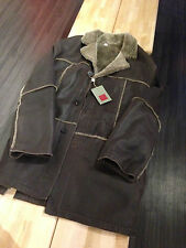 VINTAGE COLE HAAN MEN'S JACKET H93571 DARK BROWN US MEN'S XL