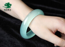grade natural light green jade bracelet, too Jade color female money  scarce