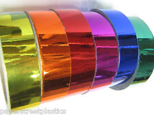 Colored Chrome Tape, Choose your Colors and Sizes, Plastic Vinyl Tape