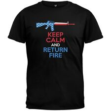 Keep Calm and Return Fire Adult Mens T-Shirt