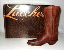 Lucchese Tan Burn Ranch N4604 Boots Made in USA