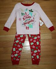 NWT Holiday Time Girls All I Want 4 Xmas is A Lot of a Presents ~Inf & Tod Szs