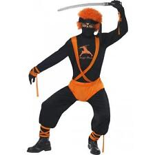 Mens Ginger Ninja Superhero Fancy Dress Costume