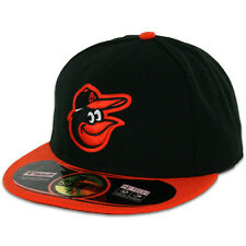 Baltimore ORIOLES ROAD Away New Era 59FIFTY Fitted Caps MLB AC On Field Hats