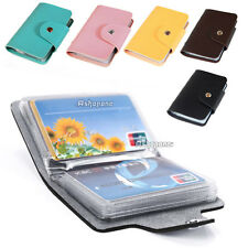 New PU Leather Pocket Business ID Credit Card Holder Case Wallet Organizer Bag