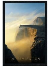 New Black Wooden Framed Determination The Climb to Success Poster