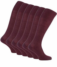 6 Pairs Mens long Italian Pure Cotton Compression Socks All Sizes Burgundy