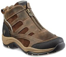 Ariat Women's Terrain Zip H2O Leather Work Boots Distressed Brown 10010167
