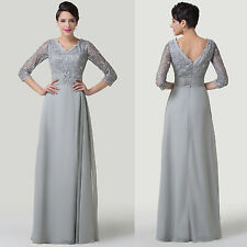 Lace Mother Of The Bride Wedding Dresses Prom Formal Occasion Evening Party gown