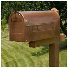 Stevenson Locking Post Mount Copper Mailbox