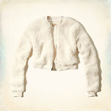 NEW Hollister By Abercrombie Womens Point Loma Sherpa Bomber Jacket- S M, L