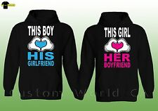 Couple Hoodie - This Boy Loves His Girlfriend This Girl Lover Her Boyfriend
