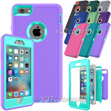 Rugged Heavy Duty High Impact Hybrid Shockproof Armor Case For iPhone 6S Plus