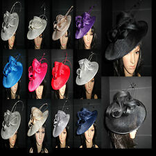 LADIES DISC FASCINATOR HATS ASCOT WEDDINGS MOTHER OF THE BRIDE FORMAL OCCASION