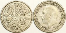 1928 to 1936 George V Silver Sixpence Second Design Your Choice of Date