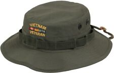 Olive Drab Vietnam Veteran Military Wide Brim Fishing Boonie Hat