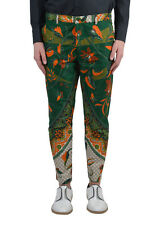 Dent De Man Men's Multi-Color Floral Flat Front Pants US 30 34