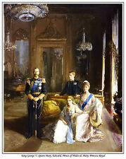 QUEEN MARY, KING GEORVE V, KING EDWARD VIII & MARY, PRINCESS ROYAL ART PRINT