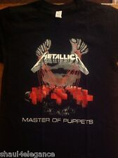 Metallica Master of Puppets Heavy Metal Rock Band 100% Cotton Printed New Style