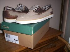 Clarks Jax Mens Boat Shoes Brown Taupe Style 63759