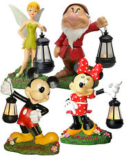"""DISNEY 17"""" MICKEY MOUSE, MINNIE MOUSE, GRUMPY OR TINKER BELL SOLAR YARD LIGHT"""