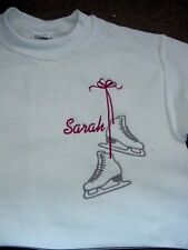 Personalized Girls Ice Skating Skate Figure Sweatshirt Youth/Toddler sizes