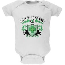 St. Patricks Day - Luck Of The Irish White Soft Baby One Piece