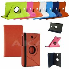 Pu Leather Smart 360 Rotating Book Case Cover Samsung Galaxy 7 Inch Tab 3 P3200