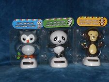 Solar Powered Dancing Toys - 3 to choose from - Owl, Panda, Monkey