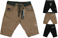 NEW MENS RAWCRAFT CARGO SHORTS - Twill Button Fly Knee Length Combat Summer Shor