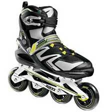 Roces Men's Skin Inline Skates Black/Acid Green Italian Design 400745 00001