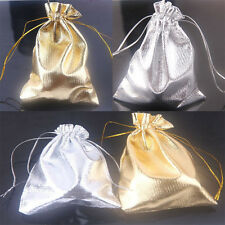 New 25/50Pcs Drawstring Organza Gift Bags Wedding Party Favour Bag Candy Pouch