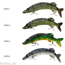 "8"" Pike Muskie Fishing Bait Swimbait Lure Life-like Baby Pike Multi-jointed 20cm"