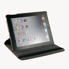 360 Rotating PU Leather Case With Swivel Stand For The New iPad 3rd+BK Stylus